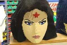 The detail in Nathan Sawaya's SDCC Lego bust of Wonder Woman is amazing.