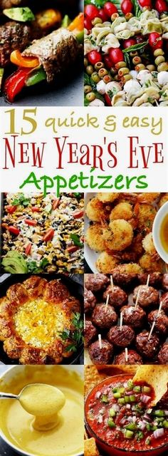 15 Quick and Easy New Year's Eve Appetizers Recipes - Delicious Party Snacks! 15 Quick and Easy New Year's Eve Appetizers - Ring in the New Year with some of our best party-worthy quick and easy appetizers! New Year's Eve Appetizers, Quick And Easy Appetizers, Finger Food Appetizers, Easy Snacks, Finger Foods, Party Appetizer Recipes, Christmas Party Appetizers, Cold Party Appetizers, Party Entrees