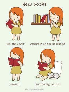 How to enjoy a new book