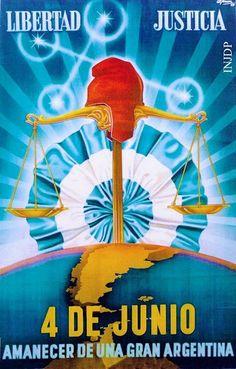 """June Sunrise of a great Argentina"" - rough translation - Political Posters, June 4th, Scenic Design, Unity, Politics, Design Inspiration, Movie Posters, Dani, Sunrise"