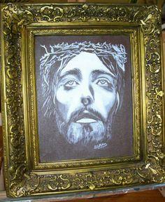Cristo Técnica mixta oleo-acrílico  20x30 Vendido