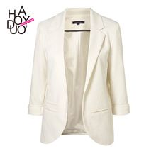 Del color del caramelo de manga tres cuartos traje femenino de la mujer chaqueta(China (Mainland))
