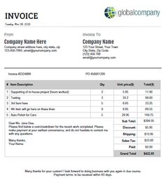 Sample Payment Voucher Template For Microsoft Word ReadyMade - Ms office invoice template