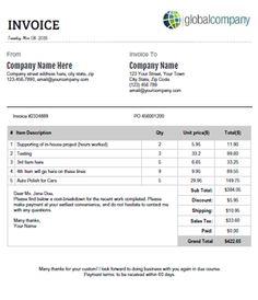 process server invoice template