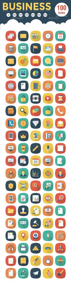 Its a creative collection of 100 Unique icons for any Business websites and marketing services.All Icons are based on shapes and t