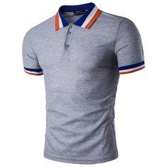 Hot trending item: Men's T-Shirt Sum... Check it out here! http://jagmohansabharwal.myshopify.com/products/mens-t-shirt-summer-striped-collar-male-short-sleeve?utm_campaign=social_autopilot&utm_source=pin&utm_medium=pin