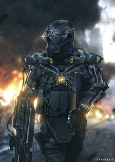 ArtStation - SciFi Soldier, Stefan Celic