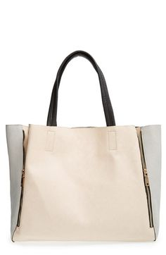 Street+Level+Colorblock+Faux+Leather+Tote+available+at+#Nordstrom