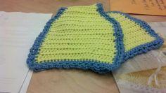 Crochet shoulder protector/burp cloth