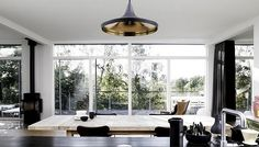 Gold and black lamp