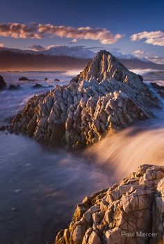 Kaikoura sunset 4 by Paul Mercer. Every-time I am lucky enough to visit this place a little bit of my heart is left behind. The air is so clear, the mountains so high, you are at the whim of mother nature. Places Around The World, The Places Youll Go, Oh The Places You'll Go, Places To Visit, Around The Worlds, Wonderful Places, Beautiful Places, New Zealand South Island, New Zealand Travel
