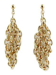 Fashion Gold Chain Earrings US$5.60