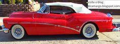 """De 1953. Mais um """"grandalhão"""".É um """"duas portas"""" conversível. A Buick, divisão da Chevrolet americana, fabricou esse modelo nos anos 53/54. Obs de JuRicardo - o buick de meu ´pai qdo virava conversivel era a alegria nossa e da garotada da vizinhança..."""