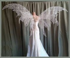 Stunning Fairy Wedding Wings Can be Customized Steampunk Corset, Steampunk Clothing, Steampunk Fashion, Amy, White Corset, Fantasy Dress, Fantasy Outfits, Fairy Dress, Beautiful Costumes