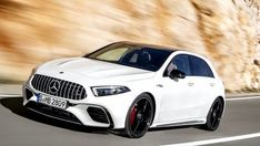 Unveiled last week, the new Mercedes-Benz A-Class has already been imagined in… The post 2019 Mercedes-AMG Rendering Almost Had Us Foole. Mercedes A45 Amg, Mercedes Benz Models, Mercedes Benz Cars, Classe A Amg, Top Ride, Benz A Class, Lamborghini Gallardo, Motor Car, Dream Cars