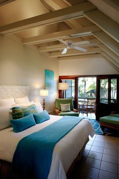 Tropical Bedroom Photos Design Ideas, Pictures, Remodel, and Decor - page 9