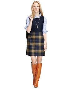 We figured it was time to take our obsession to a whole new height and stock our wardrobes with the latest and greatest in the fall plaid spectrum — so we did. Here are 30 of our favorite fall fashion finds that make plaid look oh-so-good. Preppy Outfits, Classic Outfits, Winter Outfits, Cute Outfits, Classic Style, Fashion Outfits, Plaid Wool Skirt, Plaid Dress, Tartan Skirts