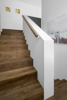- Berschneider + Berschneider, Architects BDA + Interior Architects, Neumarkt: New Building WH K Neum - Wood Stairs, House Stairs, Stair Railing, Style At Home, Escalier Design, Stair Detail, Modern Stairs, Interior Stairs, Staircase Design