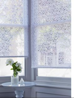 Living 4ft Swirl Semi Privacy Roller Blind White Buy