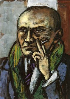 Max Beckmann - Self-Portrait with Cigarette, 1947