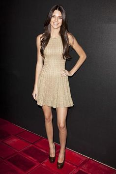 Kendall Jenner's fashion transformation! At 'Fashion's Night Out' at the Beverly center in Los Angeles, September 2012.
