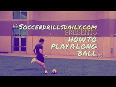 How to play a soccer long ball like Xavi Hernandez or Xabi Alonso - SoccerDrillsDaily