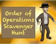 My students love doing scavenger hunts.  Come read about our adventures this week doing a order of operations hunt!