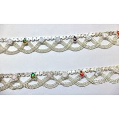 Anklet Jewelry, Gold Jewelry, Jewelry Necklaces, Jewellery, Silver Payal, Silver Anklets, Leg Chain, Anklet Designs, Jewelry Auctions