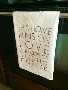 handmade kitchen towels, great easy gift idea