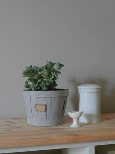recycler un petit cageot de tomates: 1 coup de peinture+ 1 étiquette photos