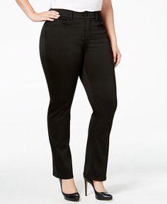 19cd150dfd1 Melissa McCarthy Seven7 Plus Size Oxford Black Wash Bootcut Jeans   Reviews  - Jeans - Plus Sizes - Macy s
