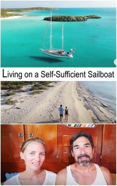 This sailboat has solar panels, a desalination thank for drinking water and much more... to live self-sufficently at sea. This couple has been doing it for 10 years! Watch the video on youtube. It is fascinating.