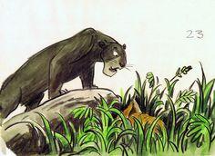 The Jungle Book #illustration #popculture #vintage #disney #thejunglebook #conceptart