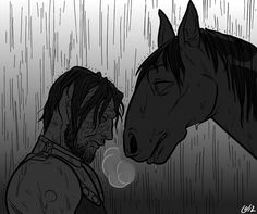 Stranger from A song of Ice and Fire #fictionalhorse