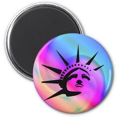 Lady Liberty Magnet #StatueOfLiberty #Statue #Liberty #Freedom #Immigrant #Refugee #USA #America #Magnet
