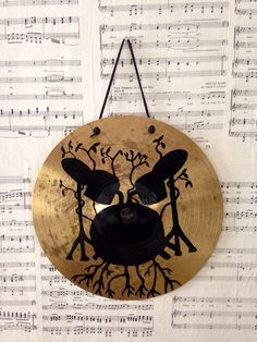 "Growing drum set painting inspired by the quote ""The rhythm is the life of the music""."