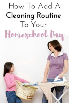 How to create a routine for cleaning that includes your children. Even young children can help you clean a home. Including your children in a cleaning routine teaches responsibility and life skills, I love this idea, LOVE the printable!