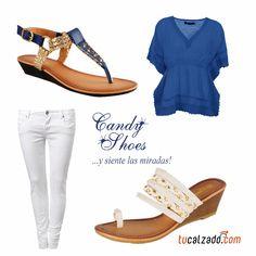 Azul Vs Naranja  www.tucalzado.com #Moda #Tendencias #Zapatos #Calzados #Sandalias