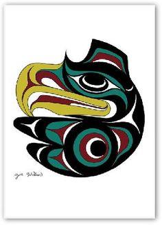 Joe Wilson Canadian First Nation Artist Prints  Small Eagle AC159 (AC15910)