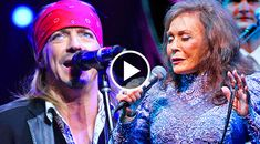 Loretta Lynn's talent has no bounds. So it should be no surprise that she got together with Poison frontman Bret Michaels on his 2013 album, Jammin' With...
