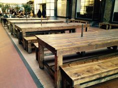Benches for Burgerbar in Oslo whit paper holders :) #driftwood #woodwork