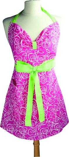Moms who love to cook will adore this bright, pink, vintage style apron.  She'll stay classy and clean in her kitchen.