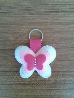 Keçe kelebek anahtarlık
