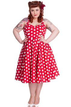 Amazing and gorgeous 60's style Polka Dot swing dress from Hell Bunny. It is superb quality vintage style dress and perfect for parties, weddings and proms. Crafted from unlined stretchy cotton with a