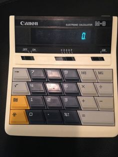 Vintage Canon M-8 Electronic Calculator - Good Working Condition #Canon