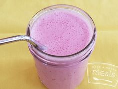 Raspberry Lemonade Smoothie recipe - Once a Month Meals