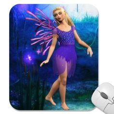 Blonde Fairy in Purple Fantasy Mousepad. $12.35. #mousepads #fairies #fantasy