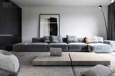 New ideas for living room couch gray interior design Home Living Room, Interior Design Living Room, Living Room Designs, Living Room Decor, Interior Colors, Gray Interior, Paint Colors For Living Room, Minimalist Home, Interior Architecture