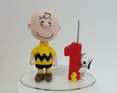 Topo de bolo Charlie Brown -Snoopy