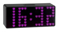 Digital Alarm Clock, Cool Things To Buy, Display, Led, Orice, Pink Hearts, Etsy, Bright, Design